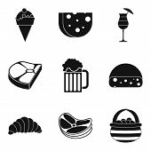 Calorie Food Icons Set. Simple Set Of 9 Calorie Food Icons For Web Isolated On White Background poster