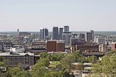 picture of alabama  - A view of the city of Birmingham Alabama - JPG