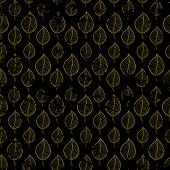 Seamless Autumn Pattern On A Dark Background Abstract Brown Gold Leaf, Leaf Fall, Defoliation, Autum poster