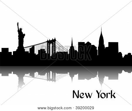 Silhouette of New York