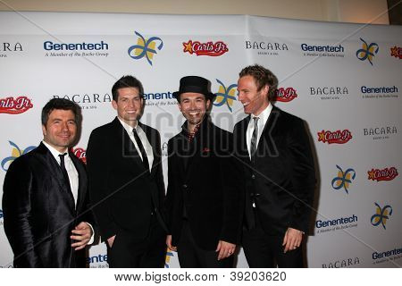 LOS ANGELES - NOV 16:  The Tenors arrive for the 11th Annual Celebration of Dreams at Bacara Resort & Spa on November 16, 2012 in Santa Barbara, CA