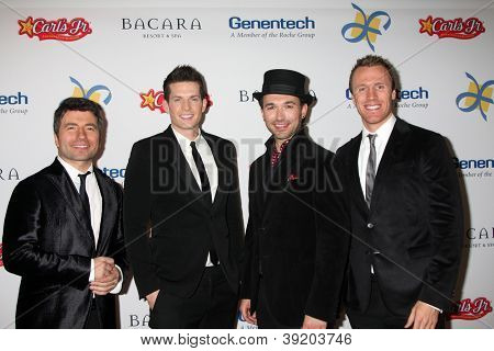 LOS ANGELES - NOV 16:  The Tenors arrive for the 11th Annual Celebration of Dreams at Bacara Resort & Spa on November 16, 2012 in Santa Barbara, CA.