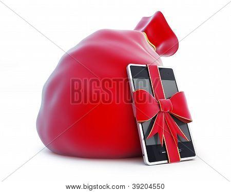 Santa die Tasche, Geschenk smartphone