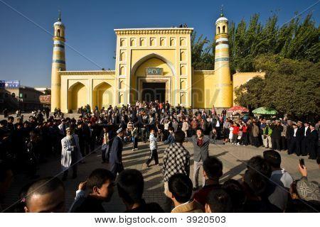Uyghur Dancing At End Of Ramadan Celebration