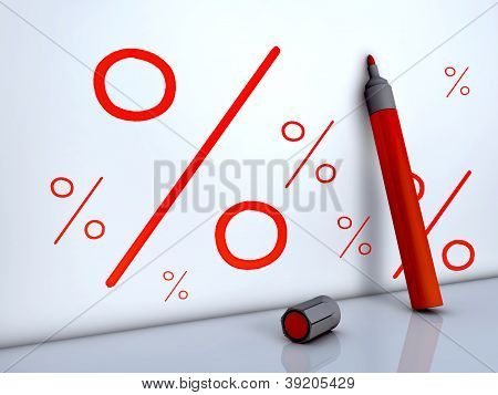 Red Pen And Percent