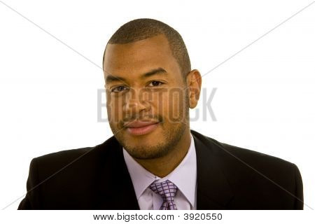 Confident Black Man In Nice Suit