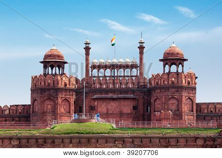 Red Fort (Lal Qila) Delhi - World Heritage Site. Delhi, India