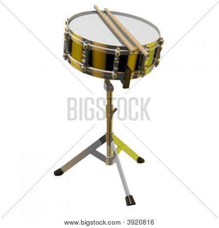Snare Drum On A Stand