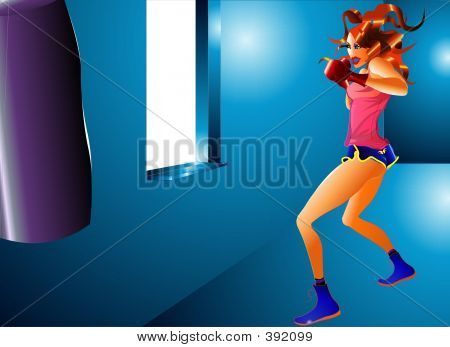 Fitness: Kick Boxing Girl