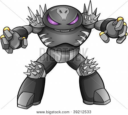Warrior Robot Cyborg Soldier Vector