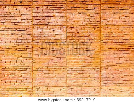 Orange Brown Brick Wall
