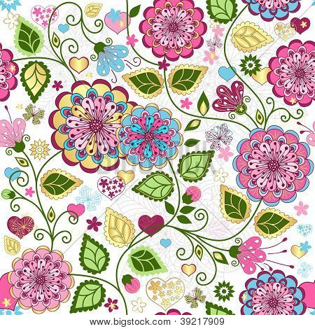 Seamless Valentine Colorful Pattern