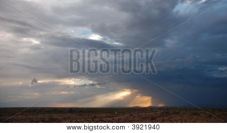 Storm Clouds Over The Desert