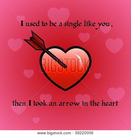 Arrow in the heart