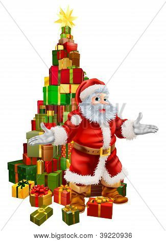Santa Claus Christmas Tree Gifts