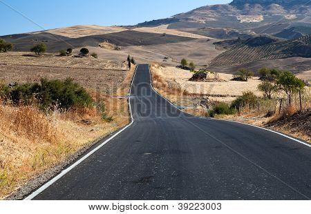 Asfalt Road In Andalucia