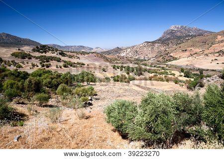 Beautiful Mountains Close To Zahara In Spain