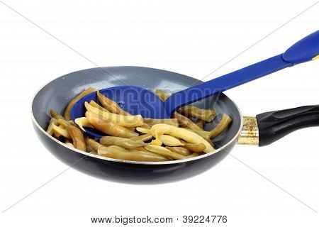 French Beans On Pan