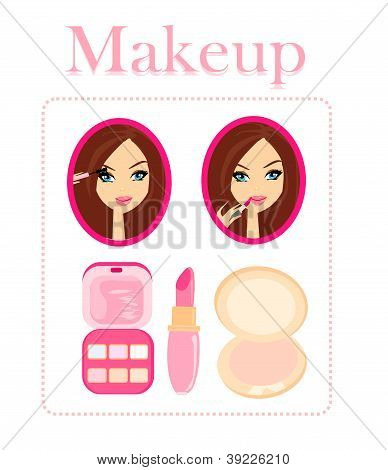 Make-up Girl - Poster Set
