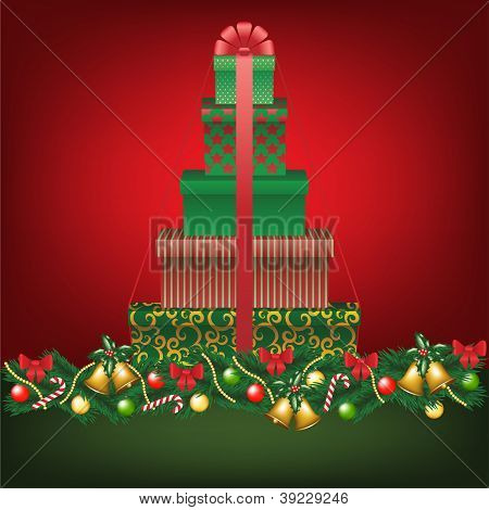 Stack Of Gifts Shapped Tree