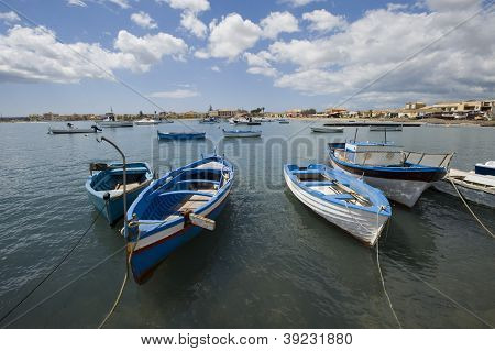 Marzamemi landscape with boats