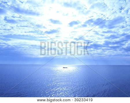 boat uner the sun