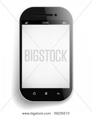 Photorealistic modern mobile phone template