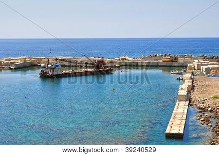 Panoramic view of Diamante. Calabria. Italy.