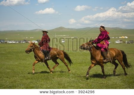Mongolian Horse Racers