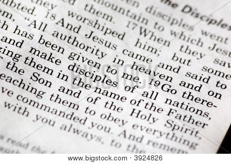 Mathew 28:19