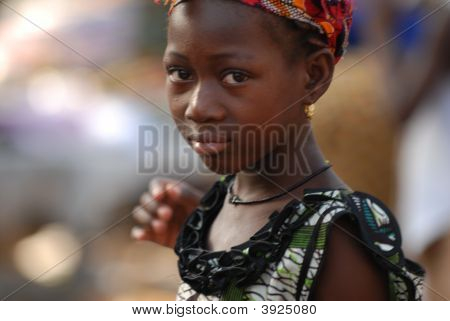Young African Girl With Earring