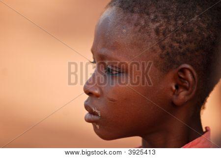 African Girl Looking Sideways