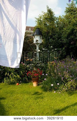 Washing Drying Garden Flowers
