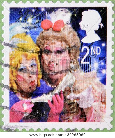 UNITED KINGDOM - CIRCA 2008: A christmas stamp printed in Great Britain shows The Ugly Sisters from