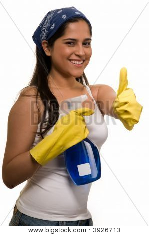 Maid With Thumbs Up