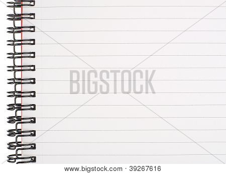Lined Notebook Page