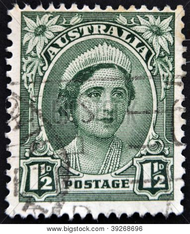 A stamp shows image of Elizabeth Bowes-Lyon was the Queen consort of King George VI