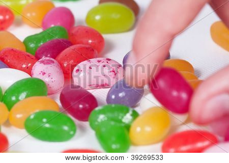 Take A Colored Bean Candy