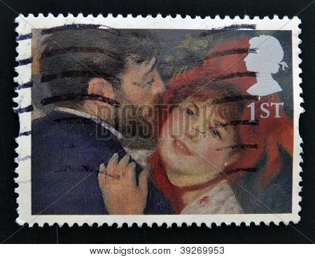 UNITED KINGDOM - CIRCA 2005: A stamp printed in Great Britain shows 'La Danse a la Campagne' (The Da