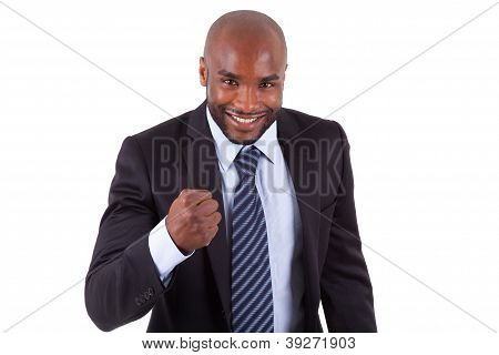 African American Business Man Clenched Fist