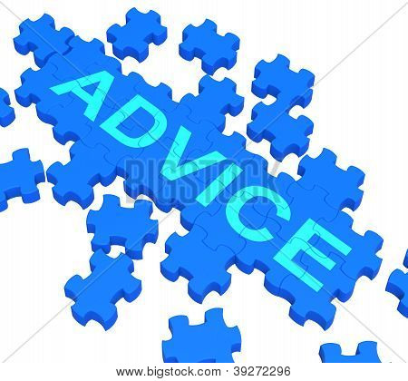 Advice Puzzle Showing Guidance And Support