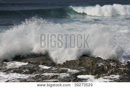 The sea beat the rocks, Porto Covo, Portugal