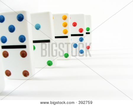 Dominoes On White