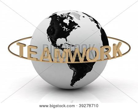 Gold Teamwork And Gold Ring