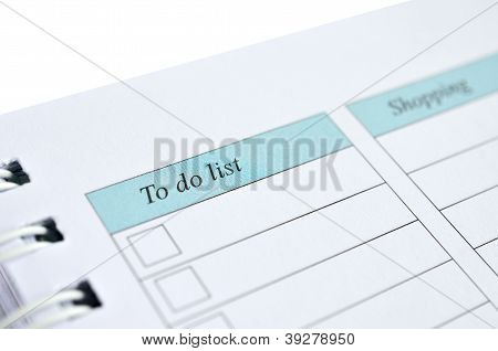 To Do List And Shopping