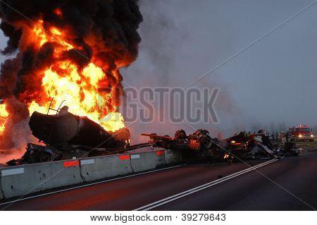 Incendio del petrolero