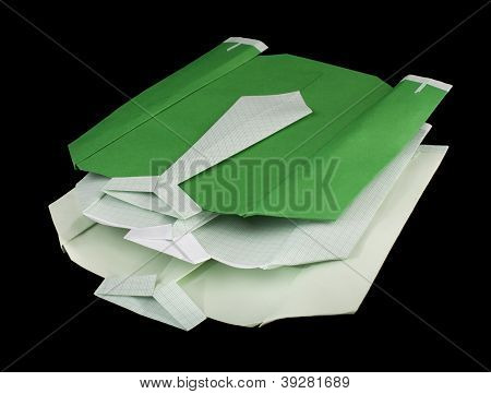 Isolated Paper Made Shirts