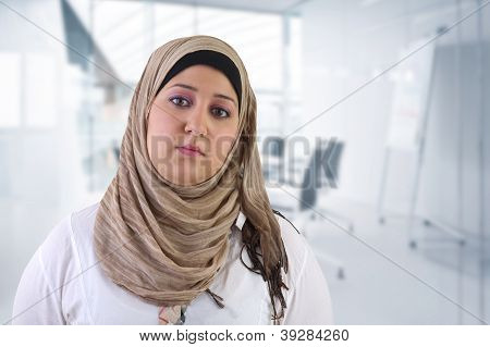 Arabian business woman Posing in office