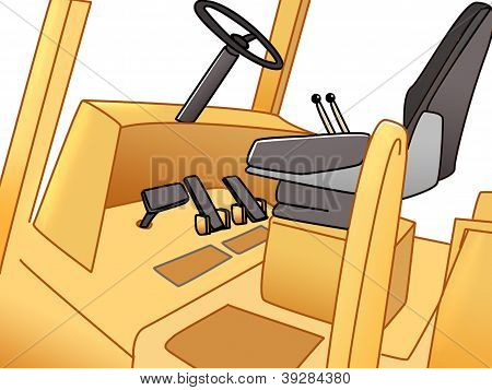 pedals of forklift
