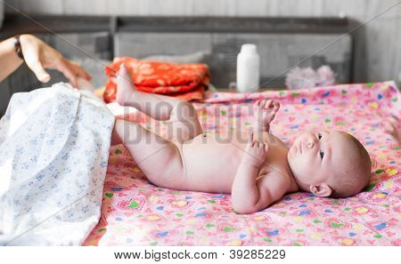 A Cute Little Baby Girl . Use It For A Child, Parenting Or Love Concept